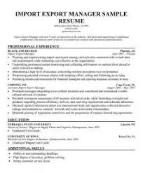 Import Export Resume Sample by Resume Import Manager Examples Of Resumes Professional Summary