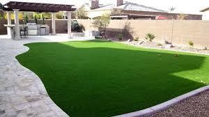 Grass For Backyard Ideas Backyard Landscape Synthetic Grass Travertine Bbq Pergola Sm