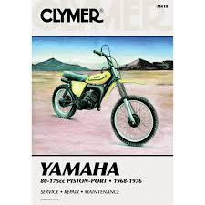 amazon com clymer repair manual for yamaha 80 175 enduro mx 68 76