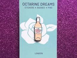 rosé wine enamel pin badge blush basic wine pin