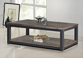 wood and metal sofa table amazon com heritage rustic wood and metal coffee or tea table