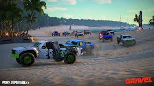 monster truck racing game milestone announce u0027gravel u0027 a new off road racing game