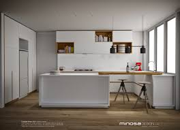 design for small kitchen spaces minosa defining small kitchen space with a touch of wood