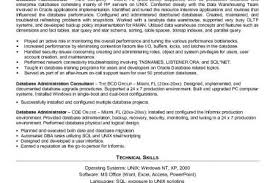 Dba Administrator Resume Examples Of Effective And Ineffective Thesis Statements Parents