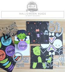 halloween dies make it market mini kit halloween hugs papertrey ink clear