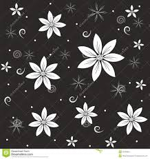 imagenes blancas en fondo negro flores blancas abstractas en un fondo negro ilustración del vector