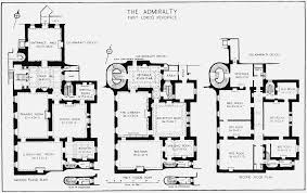 plate 45 admiralty house plans of ground first and second