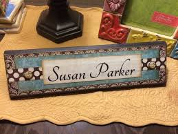 unique wooden office desk name plate plaque block handmade personalized by seeodom on