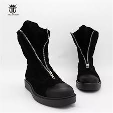 high top classic vintage black suede leather thick sole platform