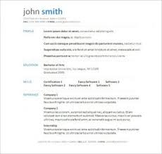 free word resume template download download resume templates