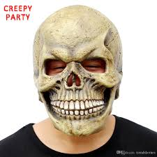 scary skull mask full head realistic latex party mask horror