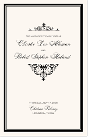 Vintage Wedding Programs Vintage Wedding Programs Wedding Ceremony Programs U0026 Wedding