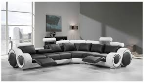 modern bonded leather sectional sofa divani casa 4087 modern black and white bonded leather sectional sofa
