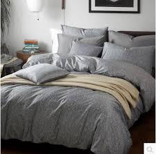 4pcs Five Star Hotel Bedding Set King Size Grey Color Duvet Cover
