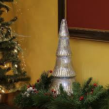 flameless mercury glass trees with leds pacific accents