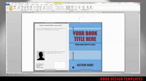 Cover Page Design Templates For Word by Cover Template Spine Width Adjustment Youtube