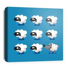 toile chambre enfant toile décorative pour chambre bébé 8 moutons