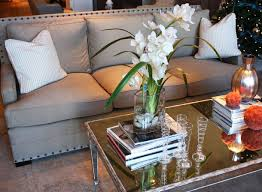 Gray Nailhead Sofa Gray Upholstered Sofa With Nailhead Trim Mirrored Coffee Table