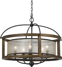 Wood Iron Chandelier Cal Fx 3536 5 Mission Wood Chandelier Lighting Cal Fx 3536 5