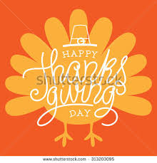 happy thanksgiving day vector illustration stock vector