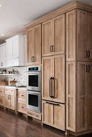 white cabinets brown lower cabinets in kitchen innovation counter depth cabinets