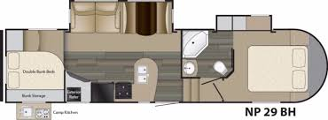 bedroom camper floor plans with bunk beds heartland north peak