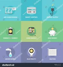 flat icons set smart house technology stock vector 226614502
