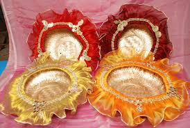Plate Decoration For Engagement Ranjana Arts In Mumbai Best Trousseau Packing Service Provider