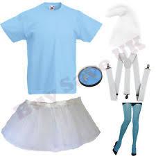 girls smurf tights fancy dress ebay