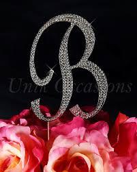 letter cake topper unik occasions sparkling collection rhinestone monogram