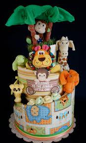 gender neutral jungle themed diaper cake www facebook com