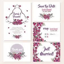 Pink Wedding Invitations Pink Floral Wedding Invitation Vector Free Download