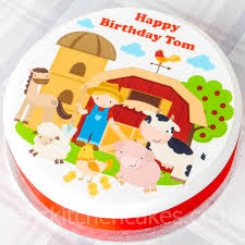 farm cake toppers cake toppers pets animals personalised boys farm animal