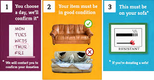 How Does It Work Reviive - Donating sofa to charity