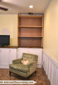 my diy built in bookcase wall is finished before u0026 after