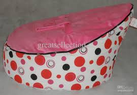 online cheap baby bean bag kids sofa chair cover pink dots