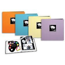 pioneer scrapbook album pioneer 12 x 12 in trend fabric frame scrapbook tangerine