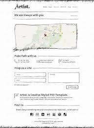 artist sketch html css template on behance