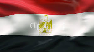 Egypts Flag Creased Egyptian Flag In Wind Slow Motion Royalty Free Video