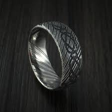 kuro damascus steel celtic knot ring infinity design wedding band