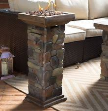 Propane Fireplace Heaters by Outdoor Propane Fire Pit Column Gas Burner Patio Porch Balcony