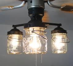 Kitchen Fan Light Fixtures Ceiling Fan Light Kit Vintage Canning Jar Jar Chandelier