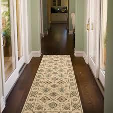 Mondrian Collection Rugs Mondrian Kazak Hallway Runners With Dark Wood Floor And Glass Door