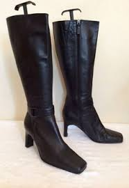 womens boots marks and spencer marks spencer brown leather knee high boots size 8 42 50