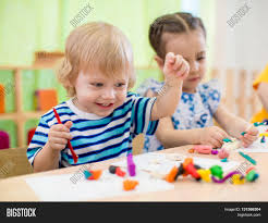 happy children doing arts crafts image u0026 photo bigstock