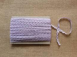 cotton scalloped edge trim lilac pale purple dressmaking trim