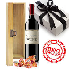 send wine as a gift wood box and wine choose your wine gift gift baskets hers