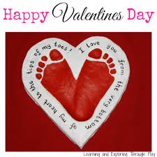 Valentine S Day Homemade Decorations Ideas by Salt Dough Heart Footprint Keepsake Red Ted Art U0027s Blog