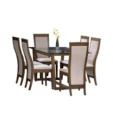 Dining Table Glass Top Online Rectangle Glass Table With Brown Wooden Legs Combined With Gray