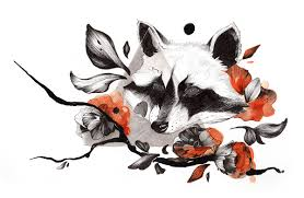 raccoon tattoo by meora hedva fur affinity dot net